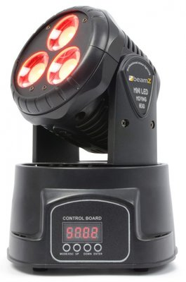 BeamZ MHL45 6/11-Kanaals Mini Moving Head Wash 3X 15W COB LED's DMX
