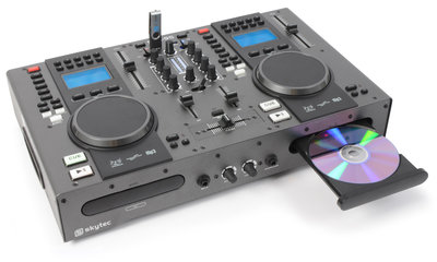SkyTec STX-95 Twin Top Speler & Mixer CD/USB/MP3