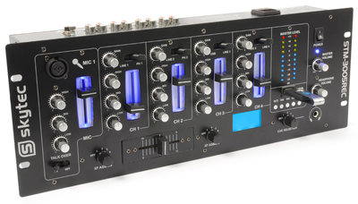 SkyTec STM-3005REC 4-Kanaals Mixer EQ USB/MP3 Record