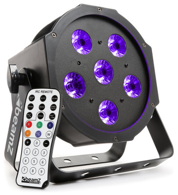 BeamZ BFP130 FlatPAR 6x 6W UV LED's