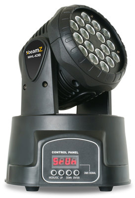 BeamZ MHL108 Moving Head Wash 18x 3W RGB 11DMX