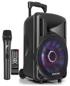 """FT10LED PORTABLE SOUND SYSTEM MET ACCU 10"""" 450W BT"""